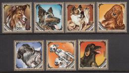 Mongolia 1984 MNH Scott #1412-#1418 Set Of 7 Dogs - Mongolie