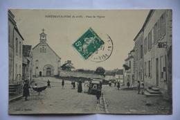 FONTENAY-saint-PERE-place De L'eglise-animee - Andere Gemeenten