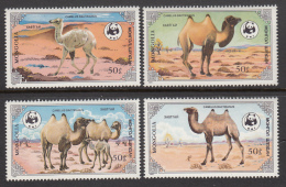 Mongolia 1985 MNH Scott #1443-#1446 Set Of 4 Camels World Wildlife Fund - Mongolie