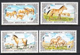 Mongolia 1986 MNH Scott #1535-#1538 Set Of 4 Przewalski's Horses - Mongolie
