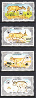 Mongolia 1986 MNH Scott #1538E-#1538H Set Of 4 Mongolian Saiga Antelopes - Mongolie