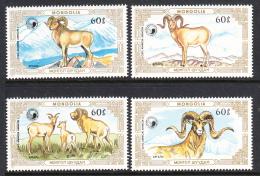 Mongolia 1987 MNH Scott #1564-#1567 Set Of 4 Argali Wild Sheep - Mongolie