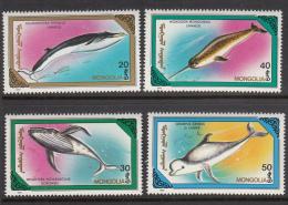 Mongolia 1990 MNH Scott #1855-#1861 Set Of 7 Marine Mammals Whales - Mongolie