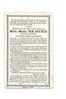 814. MARIA-MONICA VAN HAEREN - Jonge Dochter - Lid H.Familie Van LINCKHOUT- °LINCKHOUT 1861 / +ST-TRUIDEN 1893 - Devotion Images