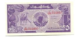 Sudan UNC 25 Piastres Banknote - Soudan