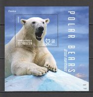 W837 2014 MICRONESIA POLAR BEARS 1BL MNH - Bears