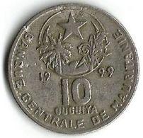 Pièce De Monnaie  10 Ouguiya 1999 - Mauritania