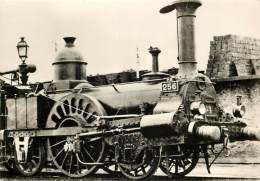 """TRAIN : MUSEON DI RODO, UZES - P.O (Orléans-Bordeaux). Locomotive N° 256 """"La Cigogne"""" - Uzès"""