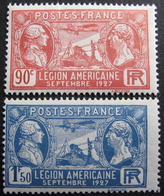 Lot FD/529 - 1927 - LEGION AMERICAINE - N°244 à 245 - NEUFS** - Cote : 12,00 € - France