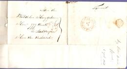 Netherlands 1840, Full Letter Fijnaart , April 3, Breda. Red Single Ring 3/4 And Hollande Par Anvers To Antwerpen, Belg. - Niederlande