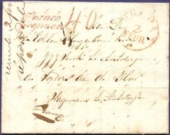 Netherlands 1835 Letter Fijnaart, 31 Janvier, Breda Red Single Ring 2 Febr And Franco Grenzen To Antwerpen, Belg. Due 40 - Niederlande