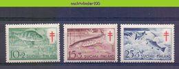 Mwe2563 FAUNA VISSEN FISH FISCHE POISSONS MARINE LIFE TUBERCULOSIS FINLAND 1955 PF/MNH - Fische