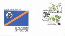 27314.  Carta  F.D.C. PAMPIERSTAD (Bophuthatswana) 1992. Flag, Plantes ACACIA - Bofutatsuana