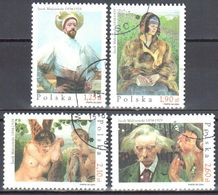 Poland  2004 - Painting - Butterfly Wings - Mi.4121-24 - Used - 1944-.... Republik