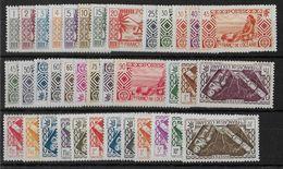 OCEANIE - YVERT N° 84/120 **/* - COTE = 84++ EUROS - SANS CHARNIERE + CHARNIERES CORRECTES - Oceania (1892-1958)