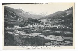 SAINT-JULIEN En BEAUCHENE  (cpa 06)  Vue Générale De St-Julien. Dans Le Fond, Le Roc De Garnezier  -    - L 1 - France