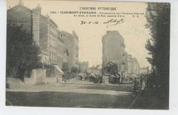 CLERMONT FERRAND - Perspective Sur L'Avenue Charras - Au Fond, La Gare Et Rue Jeanne D'Arc - Clermont Ferrand