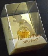 Superbe Miniature De Parfum NINA RICCI Bouchon Oiseau - Pleine Avec Sa Boite - Miniatures Womens' Fragrances (in Box)