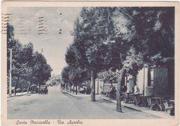 A165 SANTA MARINELLA ROMA VIA AURELIA ANIMATA 1939 - Altre Città