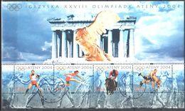 Poland 2004 - Summer Olympics, Atens - Mi M/s 160 - Used Gestempelt - Blocchi E Foglietti