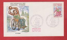 Enveloppe Premier Jour  /  Jeux Mondiaux Des Handicapés Physiques /   Saint Etienne  / 27-06-1970 - FDC