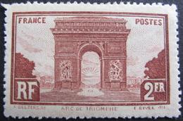 Lot FD/545 - 1929 - ARC DE TRIOMPHE - N°268 NEUF* - Cote : 42,00 € - France