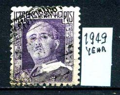 SPAGNA - Generale FRANCO - Year 1949 - Usato - Used - Utilisè - Gebraucht. - 1931-Oggi: 2. Rep. - ... Juan Carlos I
