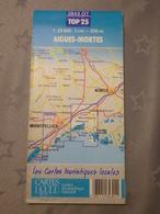 AIGUES-MORTES - LA GRANDE-MOTTE (34) CARTE IGN Au 1/25000 - 2843 EST - 1989 - Topographical Maps
