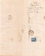 FRANCE LETTRE DU 12 MAI 1860 DE PARIS A ANGERS - Storia Postale