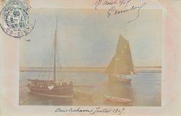 OUISTREHAM - Carte Photo  - Bateau - Voilier - Juillet 1905 - Ouistreham