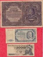 Pologne 20 Billets 11 Dans L 'état 4 état Moyen Et 5 Usagés - Coins & Banknotes