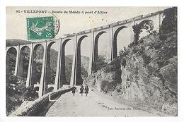 VILLEFORT  (cpa 48)   Route De Mende & Pont D'Altier (train De Marchandises) -    - L 1 - Villefort