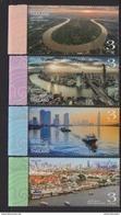 THAILAND, 2017, MNH, CHAO PRAYA RIVER, SHIPS, BOATS, BRIDGES,VIEWS,4v - Barche