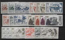 OCEANIE - YVERT N° 182/200 * - COTE = 52 EUROS - CHARNIERE LEGERE - Oceania (1892-1958)