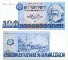 DDR 1975, 100 Mark, Staatsbank DDR, K. Marx, KN 7stellig, Geldschein, Banknote - [ 6] 1949-1990: DDR - Duitse Dem. Rep.