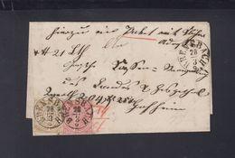 NDP  Faltbrief  1869 Brensbach 18 Kreuzer Beschädigt - Norddeutscher Postbezirk