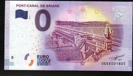 France - Billet Touristique 0 Euro 2018 N° 1805 , Date D'anniversaire  (UEEE001805/5000) - PONT-CANAL DE BRIARE - EURO