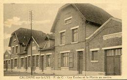 """CPA""""CALONNE Sur La LYS"""" Les Ecoles Et La Mairie Au Centre - Altri Comuni"""