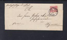 Faltbrief Weener 1889 - Deutschland