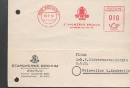 3241  Tarjeta Privada Bochum 1951, - BRD