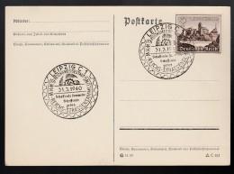 DR Postkarte Sonderstempel 1940 Leipzig K1339 - Poststempel - Freistempel
