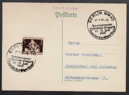 DR Postkarte Sonderstempel 1936 Berlin Nach Leipzig K1344 - Poststempel - Freistempel