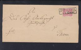 Dt. Reich Falthülle Polen Poland  Schönsee 1881 - Germany