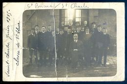 Cpa Carte Photo Du 22 Saint Brieuc école Saint Charles Juin 1915 Classe De 5è SEP17-94 - Saint-Brieuc