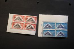 South Africa 193-194 Stamp On Stamp Corner Blocks Of 4 MNH 1953 A04s - Blocchi & Foglietti