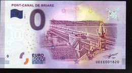 France - Billet Touristique 0 Euro 2018 N° 1820 (UEEE001820/5000) - PONT-CANAL DE BRIARE - EURO