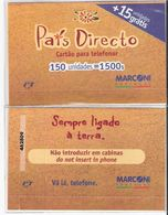 Portugal - Phonecard/ Telécarte Telecom Card / PAÍS DIRETO MARCONI ,  Nuevo/UNC - Portugal