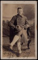 1919 OLD PHOTOCARD SENT FROM WAR RETURNED AMERICAN SOLDIER TO HIS GIRLFRIEND IN BELGIUM - VAN MELDERT - Guerre 1914-18