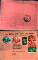 87006) RACCOMANDATA CON 10c.+2x20c.+25c+75c.+1,25l. FRATELLANZA D'ARMI DA MILANO  A CATANIA IL 2-12-1942 - Poststempel