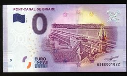 France - Billet Touristique 0 Euro 2018 N° 1822 (UEEE001822/5000) - PONT-CANAL DE BRIARE - EURO